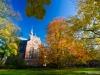 Nieuwe kerk in de herfst