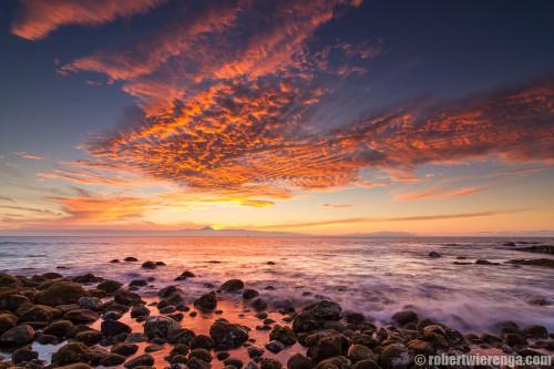 Zonsondergang achter de Teide
